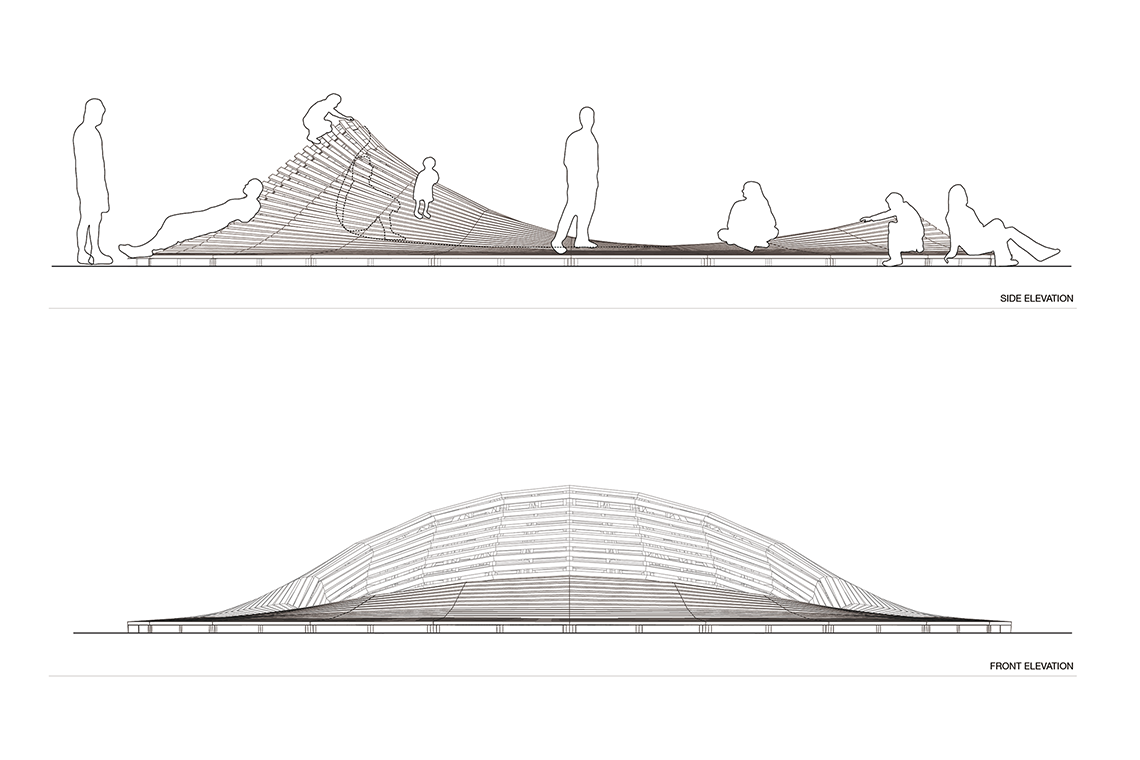 Line Art Studio Karawaci : Crater lake multi use environmental installation d